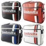 Mens Lambretta Retro Shoulder Record Bag Striped Carnaby Mod