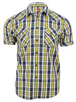 Merc London Mens 'Morse' Check Shirt Short Sleeved