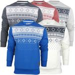 Mens Tokyo Tigers Aztec/ Nordic Crew Neck Jumper/ Sweatshirt 'Mars