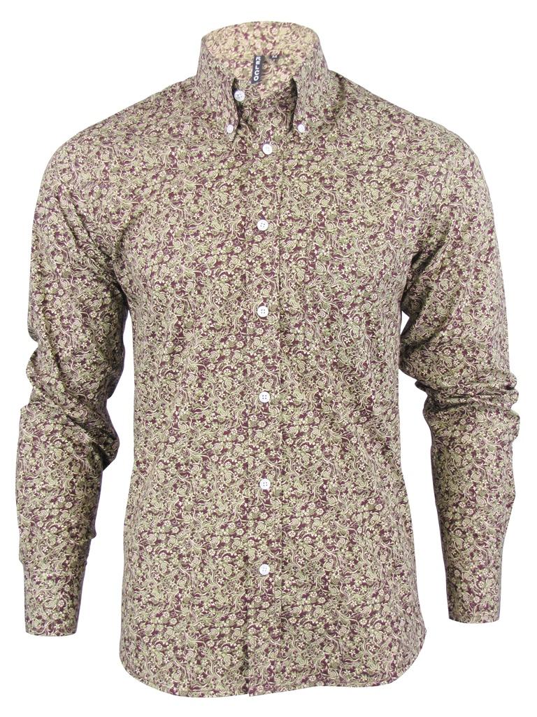 hemd shirt herren langarm s paisley modern retro kn pfe. Black Bedroom Furniture Sets. Home Design Ideas
