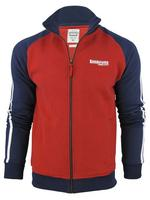 Lambretta Zip Tru Sweat Top Jumper Red White Blue