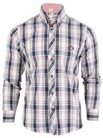 Lambretta Mod Retro Washed Check Shirt Button Down Long Sleeve