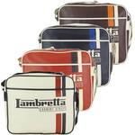 Lambretta Retro Shoulder Messenger Record Bag Striped Carnaby Street
