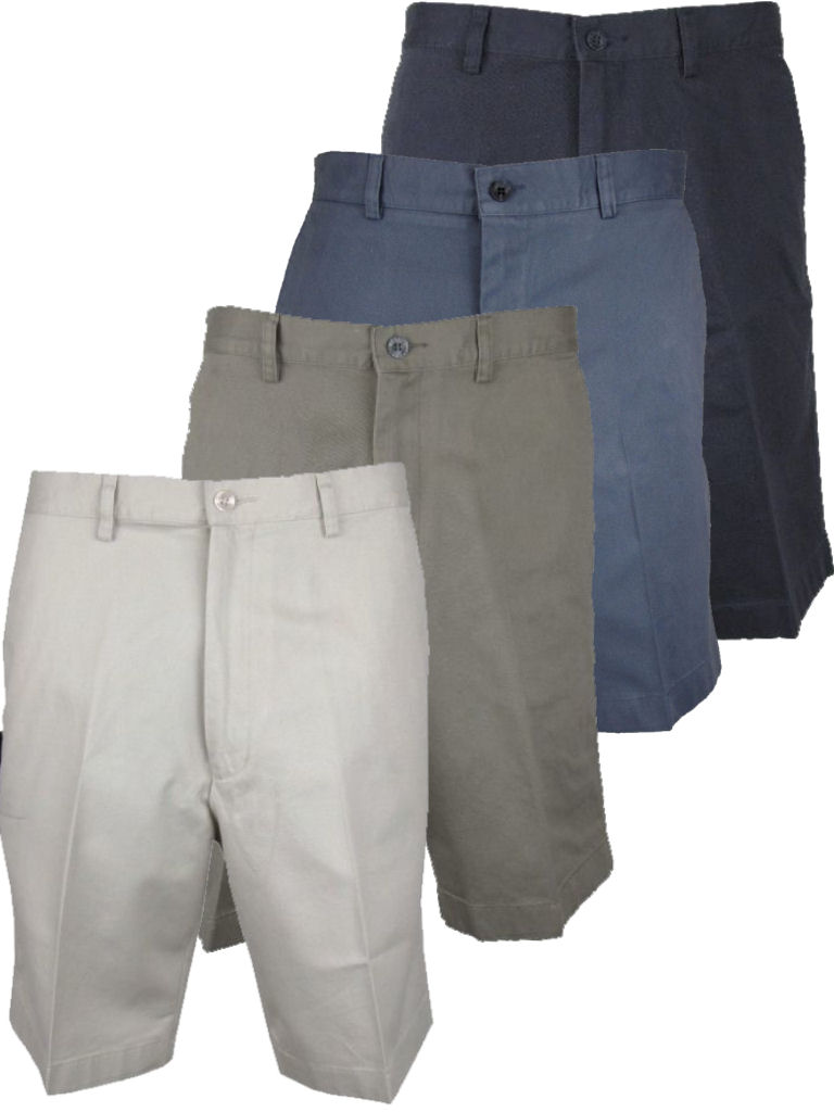 Mens Tailored Chino Shorts by Farah Stone Khaki or Navy Enlarged Preview