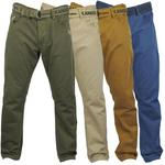 Kangol Mens 'Dino' Coloured Jean Chino Trousers - Free Belt
