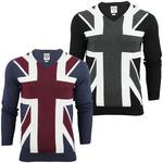 Mens Lambretta Union Jack Fine Gauge Jumper