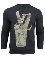Mens Criminal Damage 'Love Victory' Print Crew Neck Jumper