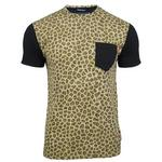 Mens Criminal Damage 'Wild Life Tee' Leopard Print T Shirt Short Sleeved