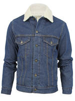 Mens Attire Denim Jacket Classic Regular Fit With Warm Fleece Linning