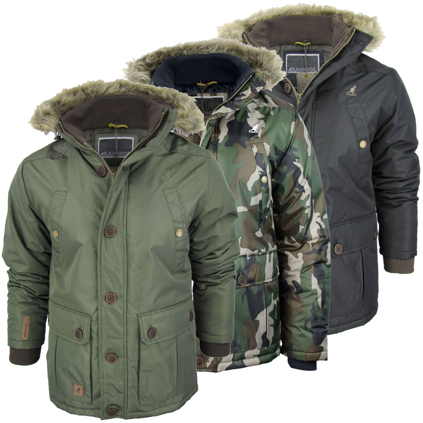 herren winter parka kangol toronto jacke mantel mit. Black Bedroom Furniture Sets. Home Design Ideas