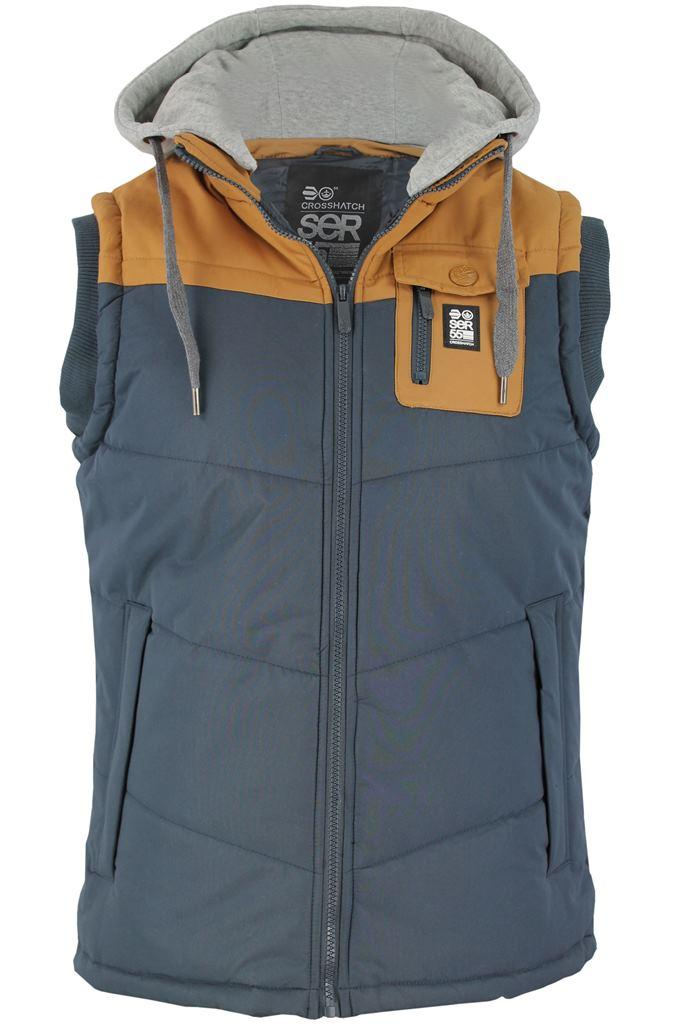 mens crosshatch gilet body warmer 39 frantons 39 hoodie. Black Bedroom Furniture Sets. Home Design Ideas