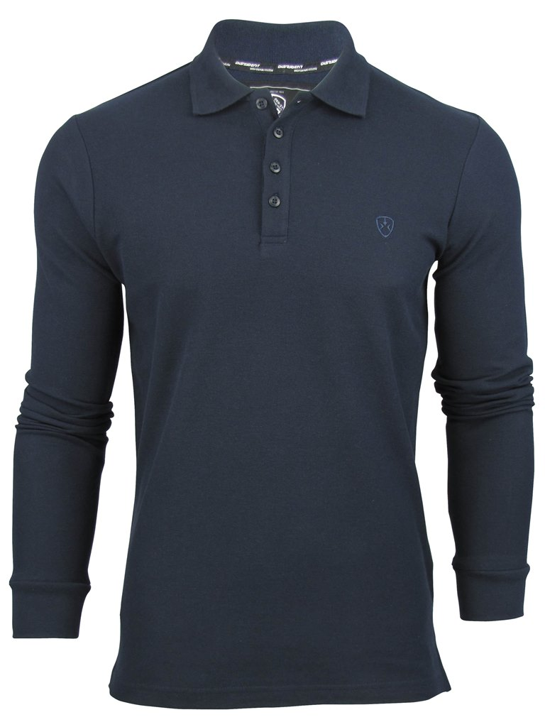 Mens-Polo-T-Shirt-Long-Sleeve-Alderton-Pique-by-Dissident