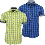 Bench Mens Shirt 'Malaxer B' Large Gingham Check Short Sleeved