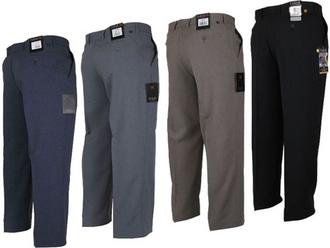 Mens Farah Trousers Regular Fit Flat Front 4 Colours Preview