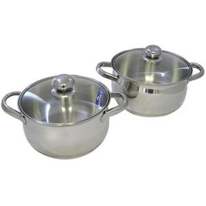 Sonex Stainless Steel 2 Piece Pot Set with Glass Lids Preview