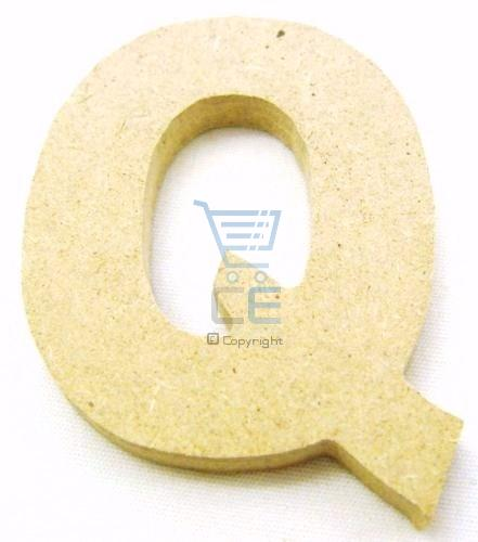 4.5cm Wooden Craft Letter Q - Unpainted - Brand New Enlarged Preview