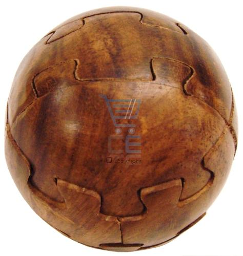 Wooden 3d ball jigsaw puzzle ornament brand new enlarged preview