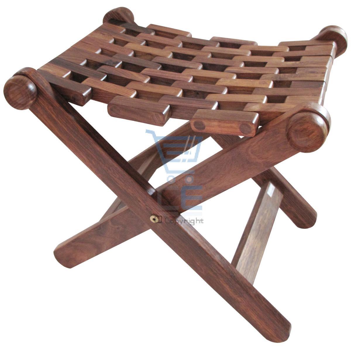 holz klappbar stuhl handgemacht netz indische sheesham holz 45x43cm. Black Bedroom Furniture Sets. Home Design Ideas