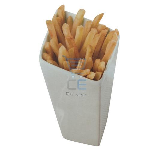 French Fries Holder Porcelain Chip Cone Bread Sticks
