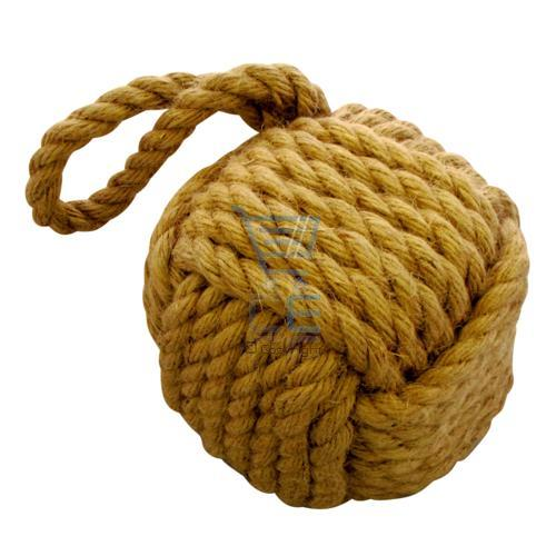 Hessian rope door stop heavy weight stopper rope ball cube for Heavy rope for nautical use