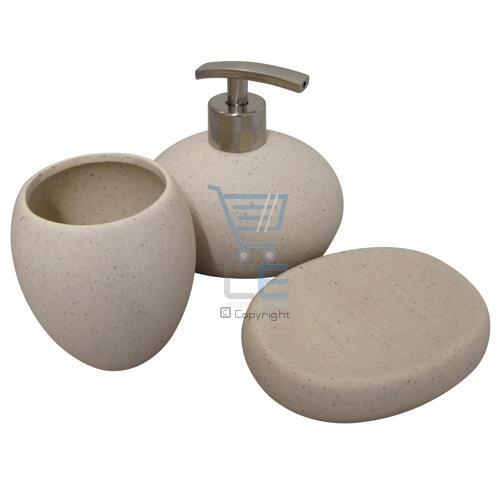 stone coloured bathroom accessories. Thumbnail  Description Reviews Delivery Returns Contact Us 3pc Stone Effect Bathroom Accessory Set 3 Colours Toothbrush Holder Soap
