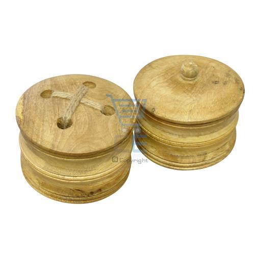 Wooden round trinket box 15x11cm 2 designs button or for Circular wooden box