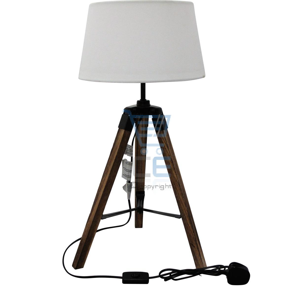 sil wooden home decorative tripod floor table lamp ebay. Black Bedroom Furniture Sets. Home Design Ideas