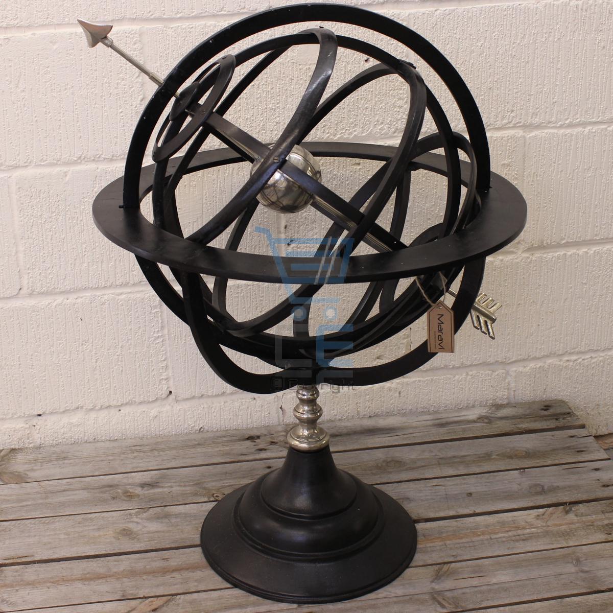 maravi metal armillary sphere arrow nautical globe home home decoration pieces in mumbai maharashtra ghar ko