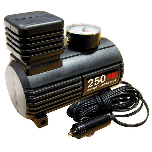 NEW 12V DC BIKE PUMP CAR TYRE INFLATOR AIR COMPRESSOR Enlarged Preview