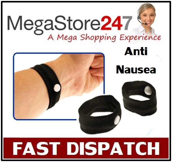 2 x WRIST BANDS ANTI NAUSEA TRAVEL CAR SEA VAN SICKNESS Enlarged Preview