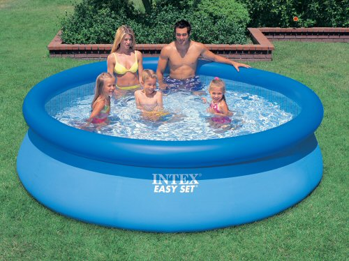 Intex 10ft X 30 Deep Inflatable Garden Swimming Pool Ebay