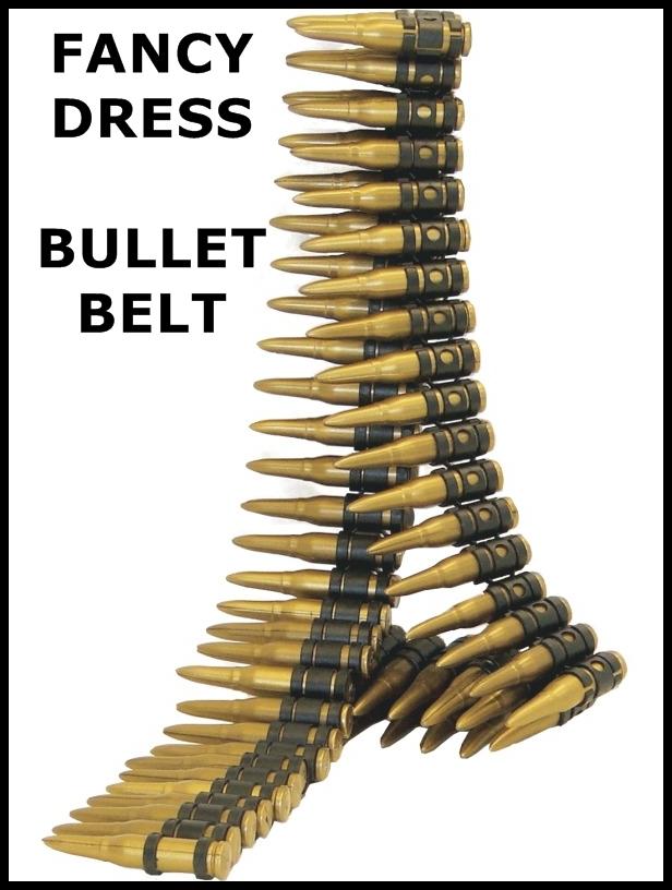 army bullet belt rambo soldier fancy dress ebay