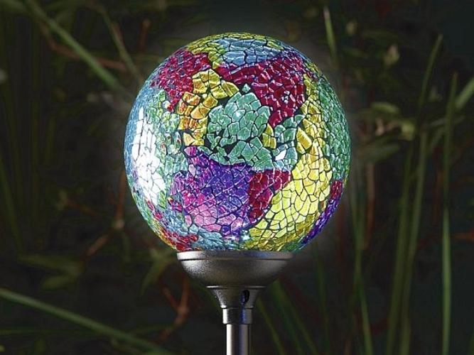 Garden Globe Lights Solar : New solar garden light murano globe terra high quality