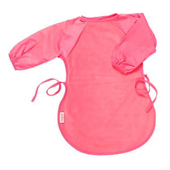 LARGE SILLY BILLYZ MESSY EATER FEEDING BIB CERISE PINK Enlarged Preview