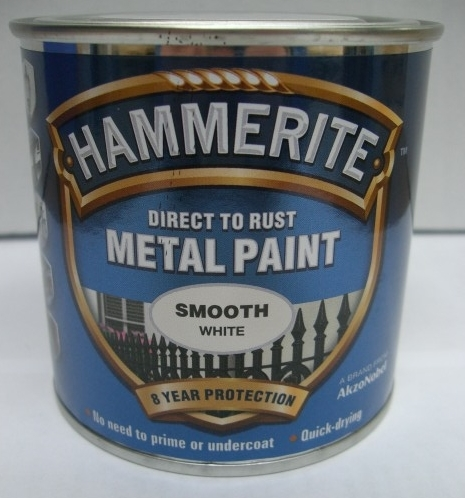 Hammerite smooth direct to rust metal paint 250ml white skip to