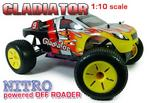 1/10 Gladiator Nitro Radio Controlled RC Truggy