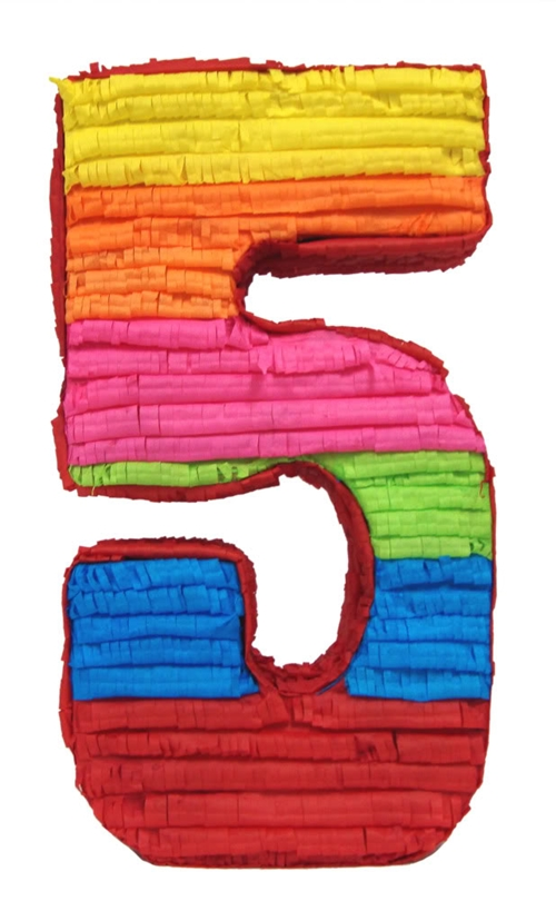 Mexican pinata a number 5 birthday party supplies for Number 5 decorations