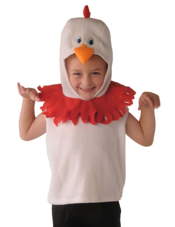 Tabard - Rooster Red & White Small Childrens + Kids Fancy Dress Costume Enlarged Preview