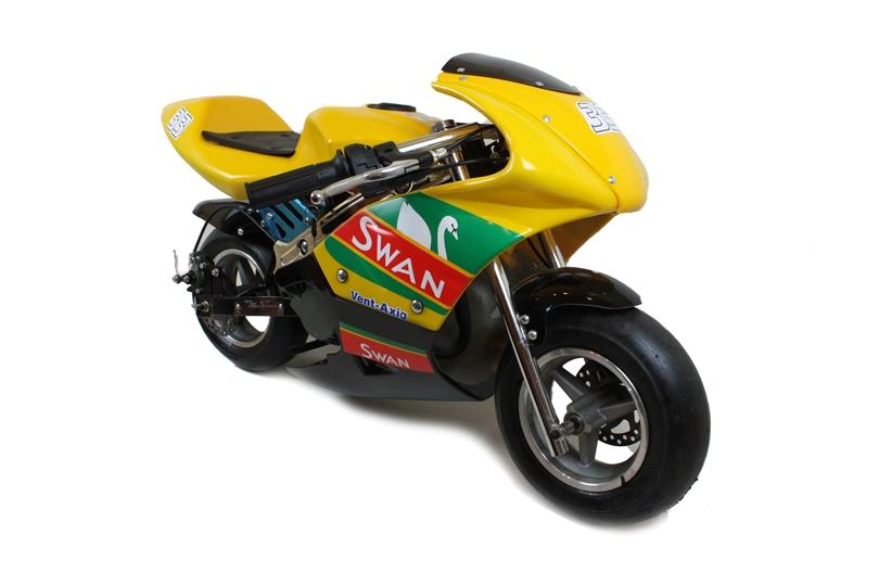 new limited edition swan bsb racing bike mini moto 50cc. Black Bedroom Furniture Sets. Home Design Ideas