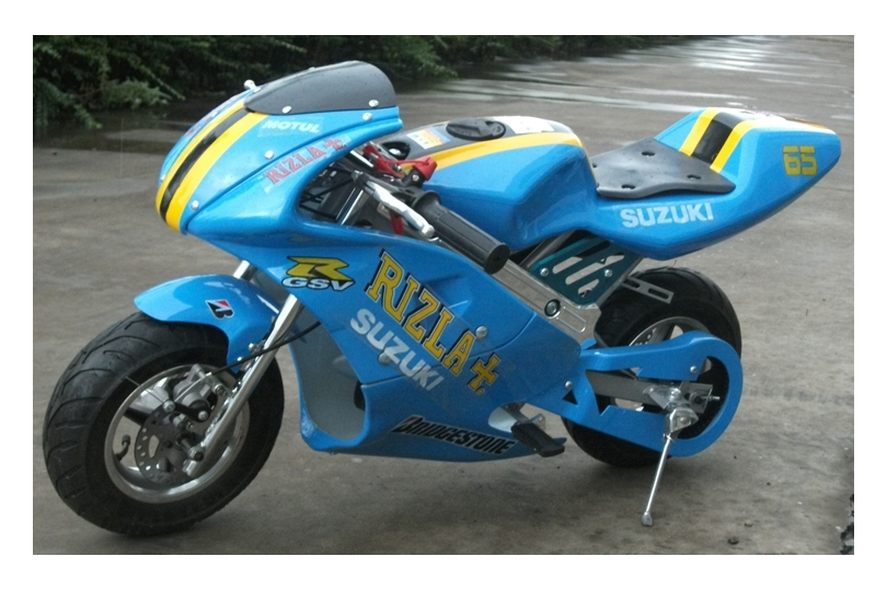 new rizla racing mini moto pocket rocket 50cc motorbike. Black Bedroom Furniture Sets. Home Design Ideas
