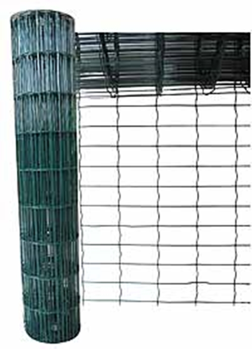10M X 0.6M GREEN PVC COATED GARDEN FENCE WIRE MESH FENCING - STRONG & ROT-PROOF  Enlarged Preview