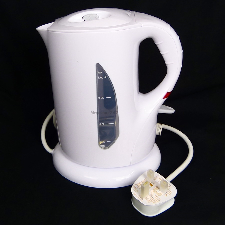 Small Electric Kettle ~ Litre white electric cordless travel kettle small jug