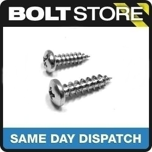 No4 x 1 (2.9x25mm) PAN HEAD SELF TAPPING SCREWS A4 STAINLESS STEEL 30 PACK