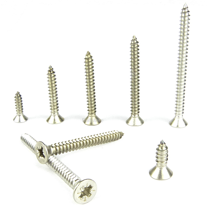 No4 x 1/2 (2.9x13mm) COUNTERSUNK CSK SELF TAPPING SCREW A4 MARINE GRADE 20 PACK