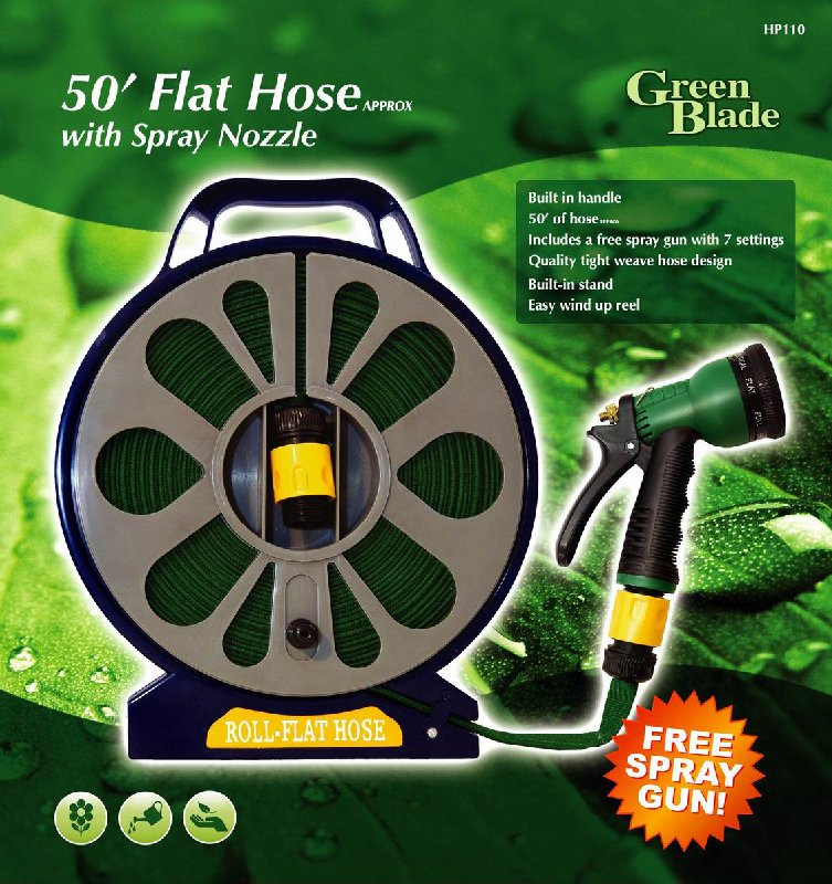 50ft flat garden hose pipe reel 15m hosepipe with stand for 50ft garden design