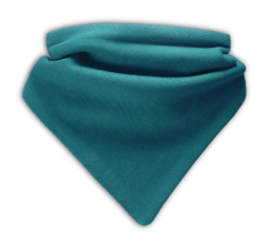 BABBLE BIBS BABY DRIBBLE BANDANA BIB FOR TEETHING BABIES - TEAL GREEN Enlarged Preview