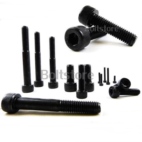M12 x 70 BLACK SOCKET CAP HEAD SCREW ALLEN BOLTS 12.9 GRADE HIGH TENSILE 4 PACK