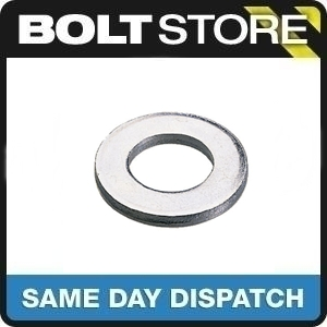 20 PACK M12 /12MM FLAT WASHER BRIGHT ZINC PLATED BZP FREE P&P