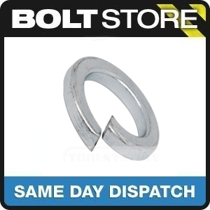 20 PACK M8 / 8MM SPRING WASHER BRIGHT ZINC PLATED BZP FREE P&P