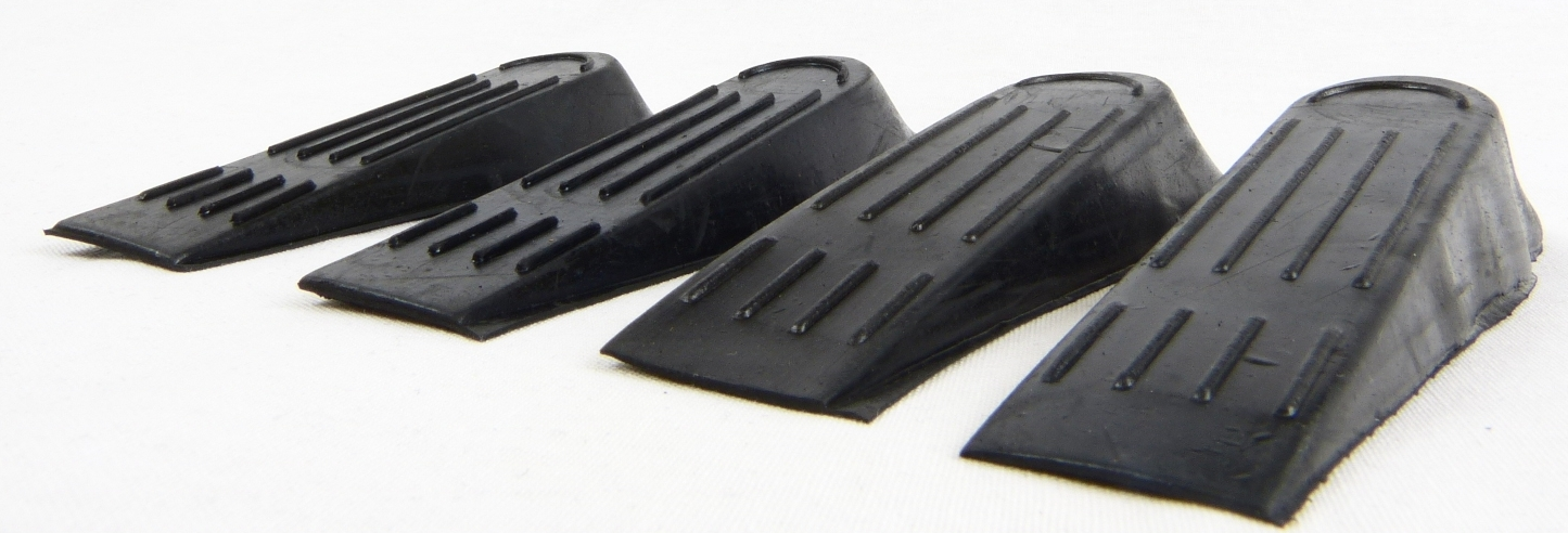 2 pack new black rubber door stops stoppers wedges jam jammer home office ebay - Door stoppers rubber ...
